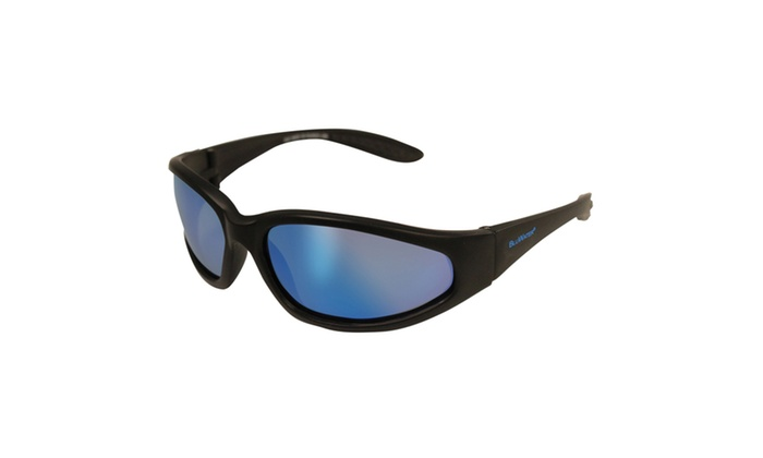 BlueWater Sharx GTB Matte Black Nylon Frame-Mirrored Lens