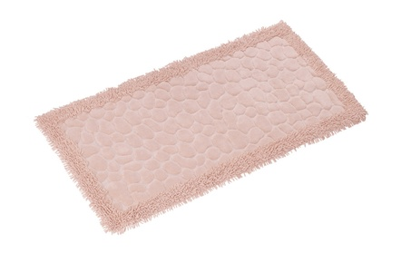 Chiara Rose Luxury Soft Cotton Patterned 1 Piece Bath Rug