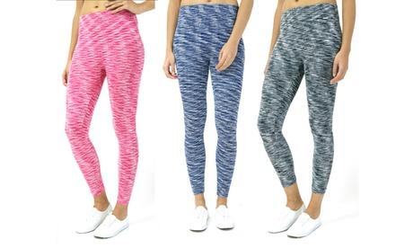 INDERO Junior Woman's Space Dye Fleece Leggings 1f856a7d-4b97-44e1-a632-b3b43386c3a5
