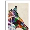 Michael Tompsett 'Eiffel Tower' Canvas Rolled Art