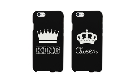 King and Queen Crown Couple Matching Phone Cases for iphone 4, iphone 5, iphone 5C, iphone 6, iphone 6 plus, Galaxy S3, Galaxy S4, Galaxy S5, HTC M8, LG G3 for Couples