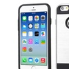 Insten Hard Hybrid Coated Silicone Case For iPhone 6 6s Silver Black