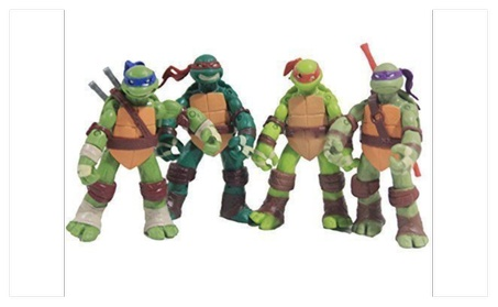 "4 PCS/Set 5"" Teenage Mutant Ninja Turtles Battle Figures Classic ea9af017-d794-46e1-bc9c-3dc161d0cdcc"