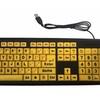 Large Print Keyboard USB Plug 4X Larger Letters Keyboard