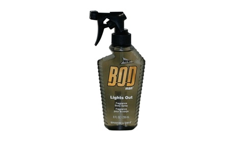 Bod Man Lights Out Fragrance Body Spr 8.0 Oz / 236 Ml For Men