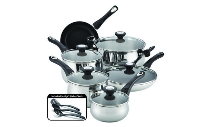 Farberware New Traditions Stainless Steel 14-Piece ...