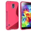 Insten Pink Silicone Gel TPU Skin Case Protector Cover For Galaxy S5