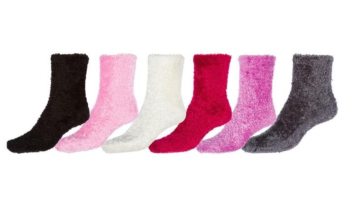 Sakkas Magic Super Soft Socks - Solid Assorted 6Pk / 9 to 11