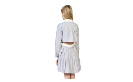 Striped Collar Mini Dress a091bd67-6e06-43c1-9fa3-8c2886c480dd