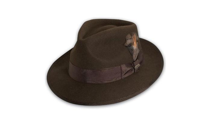 dc9f1a8751b41 Scala Classico Wf502-Brn2 1 Wool Felt Snap Brim - Medium Hat