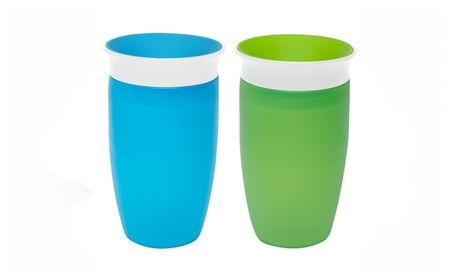 Munchkin Miracle 360 Sippy Cup, Green/Blue, 10 Ounce, 2 Count 5404f062-0f5f-4fc8-b083-e1c280f531d2