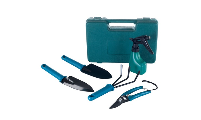 6 Piece Garden Tool Set with Carrying Case