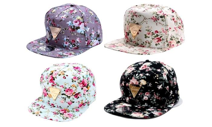 Floral Hip-Hop Adjustable Cap