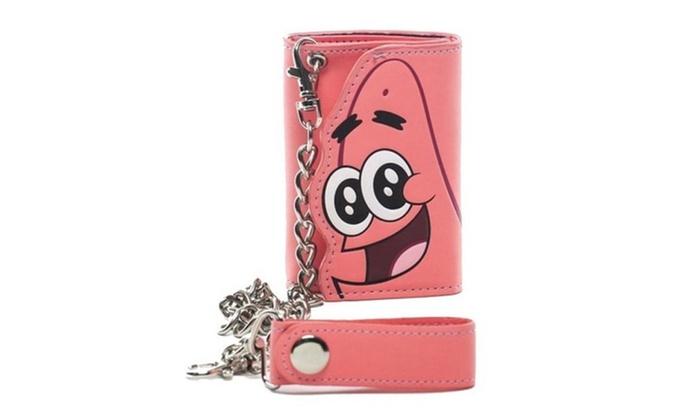 Nickelodeon's Spongebob SquarePants Patrick Pink Chain Tri-fold Wallet