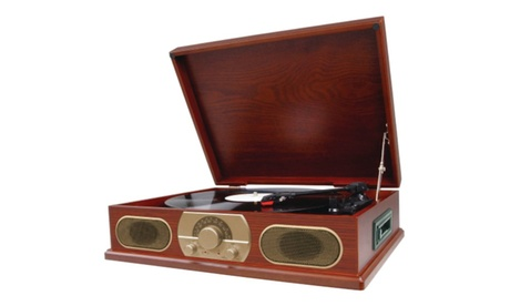 Studebaker Wooden Turntable With AM/FM Radio and Cassette Player 6957095a-f776-4c46-b4b6-c22d09208be5
