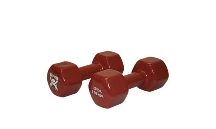 a64fe7572bf CanDo CanDo-10-0561-2 20 lbs Vinyl Coated Dumbbell Brown - 1 Pair Brown na  Label original.jpg
