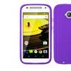 Insten Rugged Rubber Case For Motorola Moto E 2nd Gen 2015 Purple