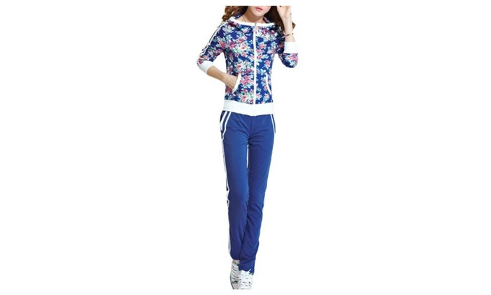 Women's Simple Straight Pull On Style Tracksuits