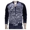 Men's Fashion Zip up Rib Slim Fit Zebra Outdoor Sports Hoodie Jacket