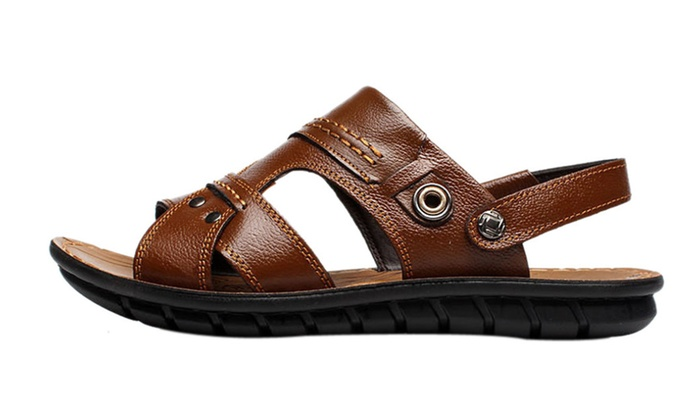 Men's Cross Strap Slipper Roman Sandal