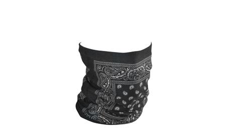 Zan Headgear Motley Tube Fleece Lined Black Paisley 3270806b-cb8a-42e8-a5dd-bc40405a7775
