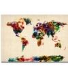 Michael Tompsett Abstract Painting World Map Canvas Print