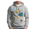 Firefly 8-bit Serenity Ship Men's Hooded Sweatshirt