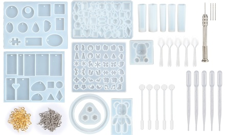 229Pcs Silicone Resin Jewelry Casting Molds and Tools Set
