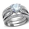 Women's 3.15 Ct Heart Shape Cz 3 Piece Wedding & Engagement Ring Set