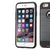 Insten Hard Hybrid Silicone Case For Apple iPhone 6 Plus 6s Plus Black