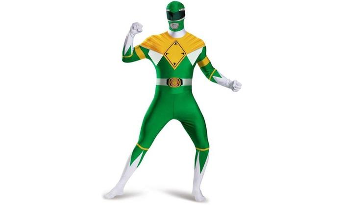 Mighty Morphin Power Rangers Green Ranger Bodysuit Adult Costume Plus