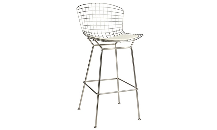 Surprising Up To 52 Off On Bertoia Style Barstool Groupon Goods Theyellowbook Wood Chair Design Ideas Theyellowbookinfo