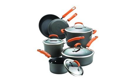Rachael Ray Hard-Anodized Nonstick 10-Pc Cookware Set f1746925-7136-4b84-8e46-4bc93d4d315d