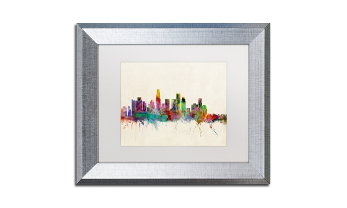 Michael tompsett 39 los angeles california 39 matted framed for Michaels crafts los angeles
