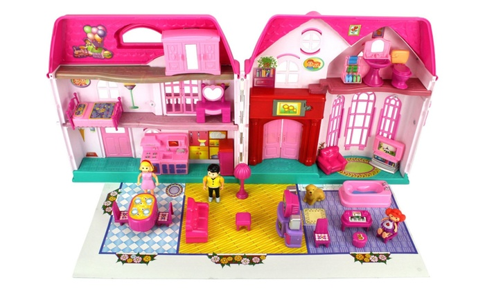 Vt My Happy Family Deluxe Battery Operated Toy Doll House Play Set