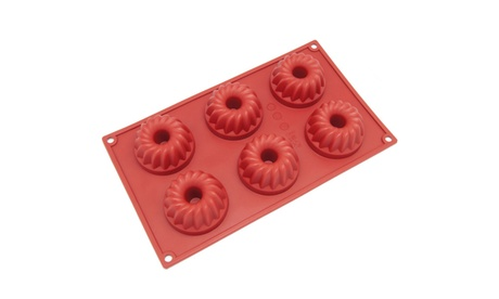 Freshware 6-Cavity Silicone Small Bundt, Coffe Cake and Muffin Mold f1d7225c-4975-4528-a827-303acf0c7a91