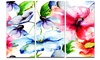 Watercolor Flowers Everywhere - Floral Metal Wall Art