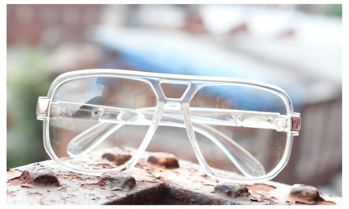 a37f3a186 Classic Square Frame Plastic Clear Lens Aviator Glasses Plactic ...
