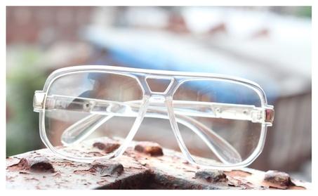 Classic Square Frame Plastic Clear Lens Aviator Glasses Plactic aa0bfb28-440e-43ca-a428-a7f2405690a6