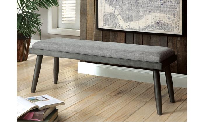 ... Grey Regner Industrial Dining Bench, Grey ...