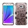 Insten Four Leaf Coated Silicone Case For Galaxy Note 5 Rose Gold