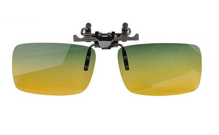 Day & Night Polarized Clip-On Flip-Up Sunglasses for Driving 89e80781-c55a-4632-a78f-de3372736671