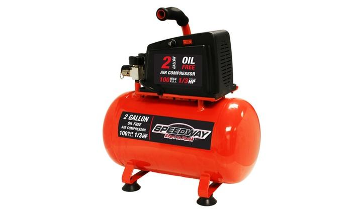 Speedway 2-Gallon Oil Free Air compressor- Hotdog style