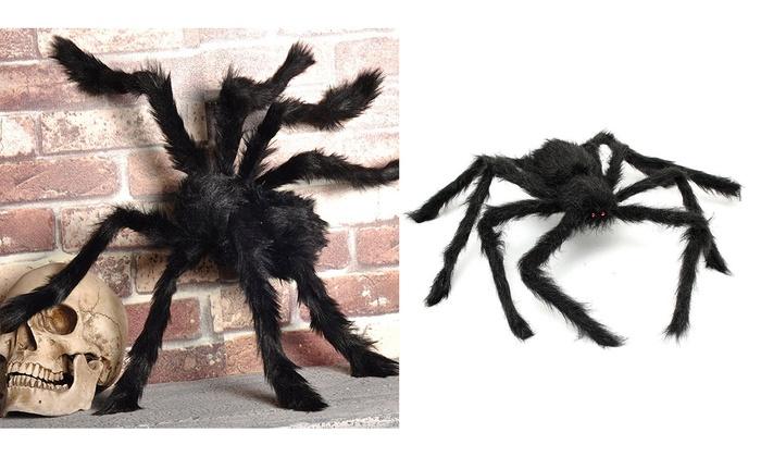 Halloween Spider Decoration Haunted House Prop Indoor Outdoor Black Giant Scary