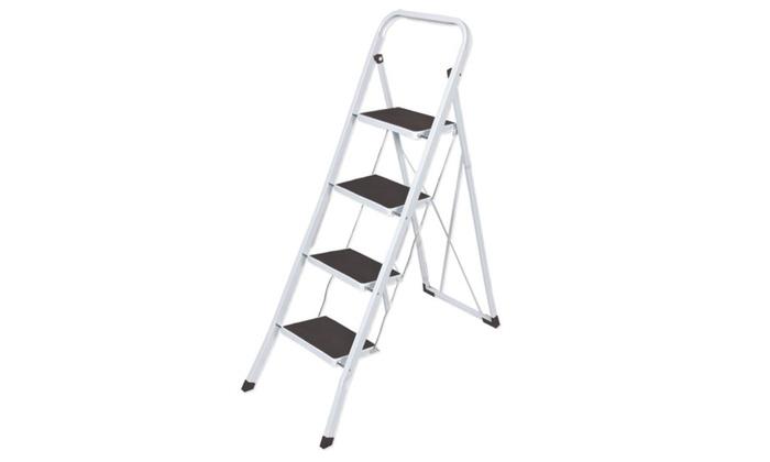 4 Steps Folding Lightweight Step Ladder, Step Stool For Home U0026 Office Use