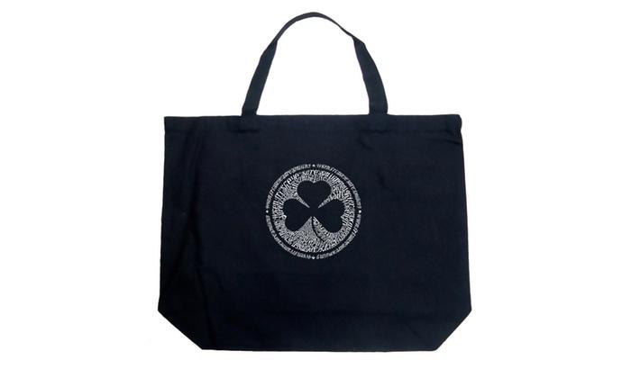 Large Tote Bag - LYRICS TO WHEN IRISH EYES ARE SMILING
