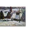 Paul Gauguin Brenton village under snow Canvas Print