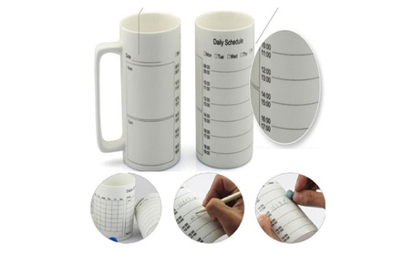 Ceramic Schedule Coffee Cup 351f8cac-a237-487e-9f2b-5d029a3ec765