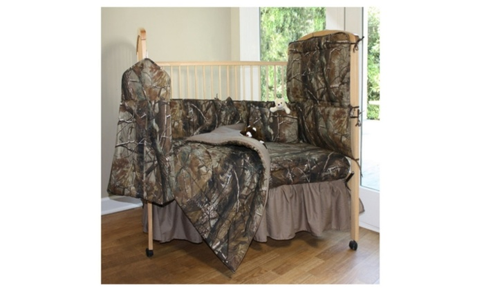 7 Pc Camo Baby Crib Gift Set Choose