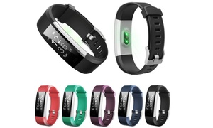 Id115 Plus Smart Watch Bracelet With Real Heart Rate Monitor Pedometer